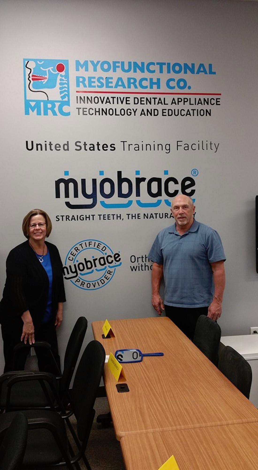 Janet and Dr. Pilgrim at the Myofunctional Research Company on April 17, 2016
